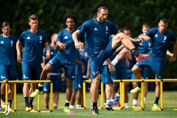 Allenamento di preparazione della Juventus