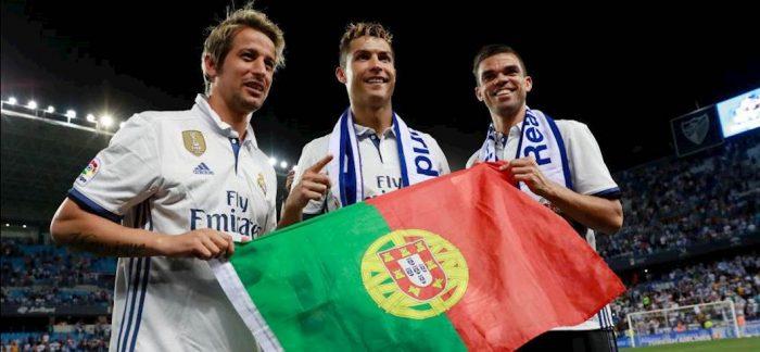 Fabio Coentrao con CR7 e Pepe