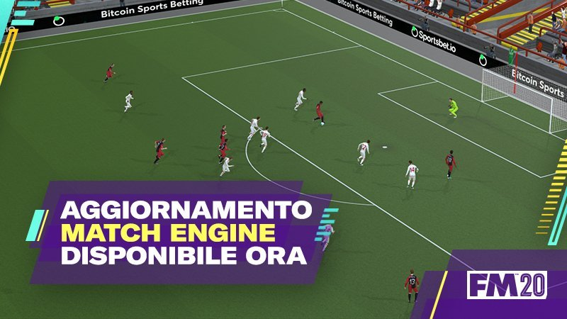 Aggiornamento Match Engine Football Manager 2020