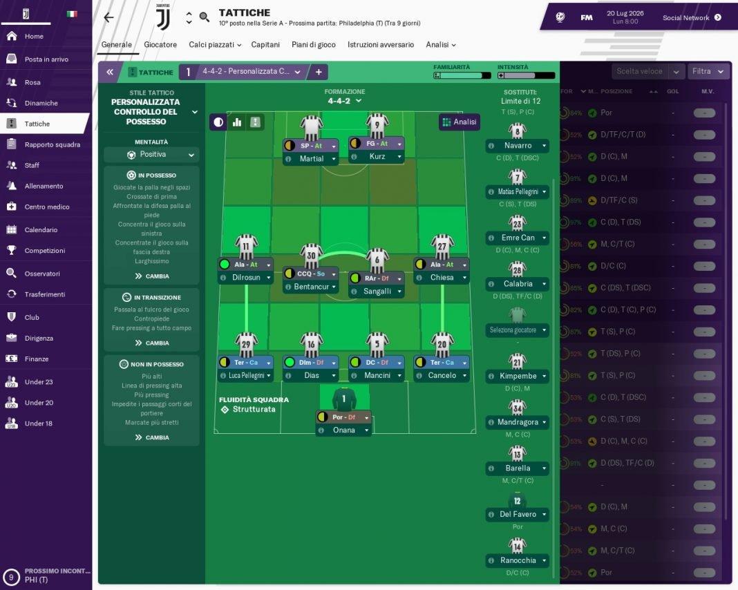 4-4-2 di Francesco Preziosa