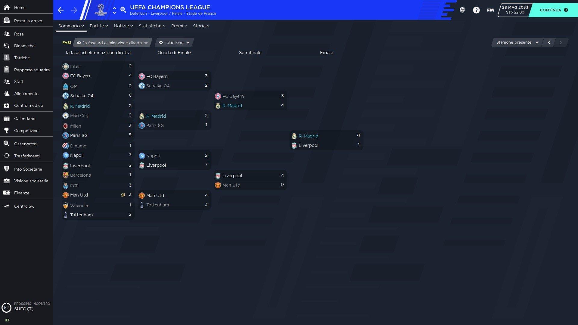 5 tabellone Champions