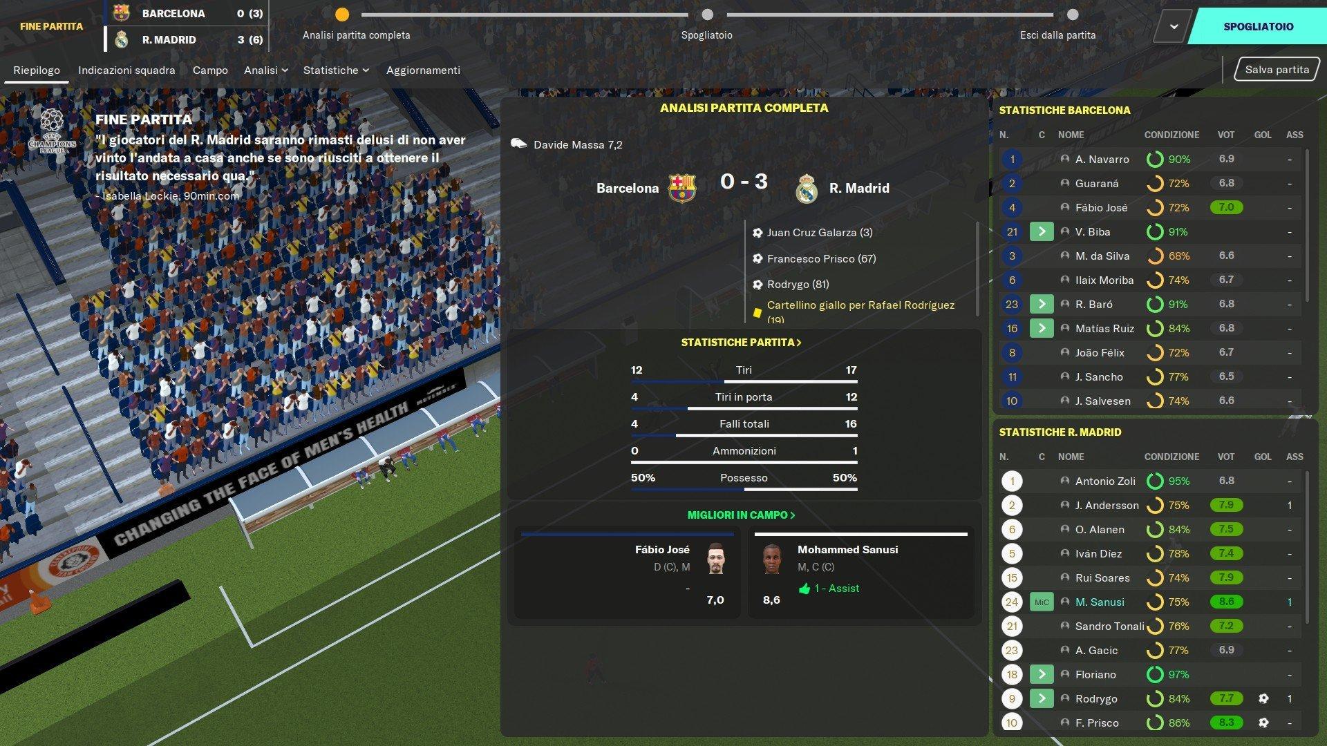 9 semifinale ritorno