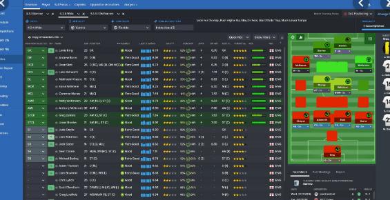 football manager 2016 - schermata statistiche