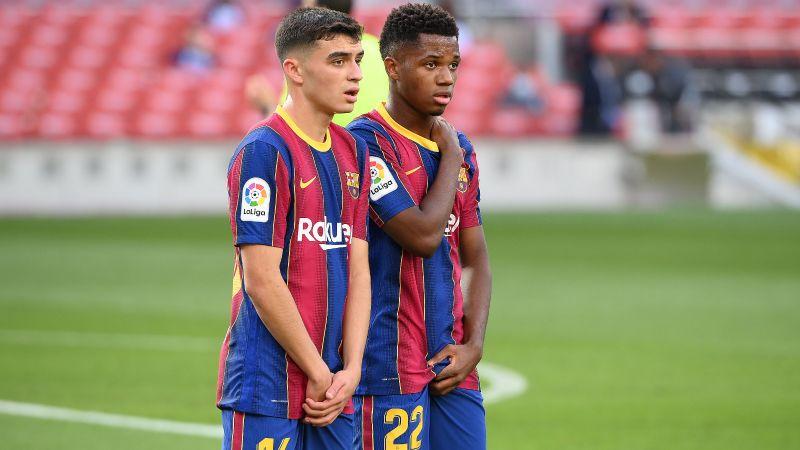 Pedri e Ansu Fati del Barcellona