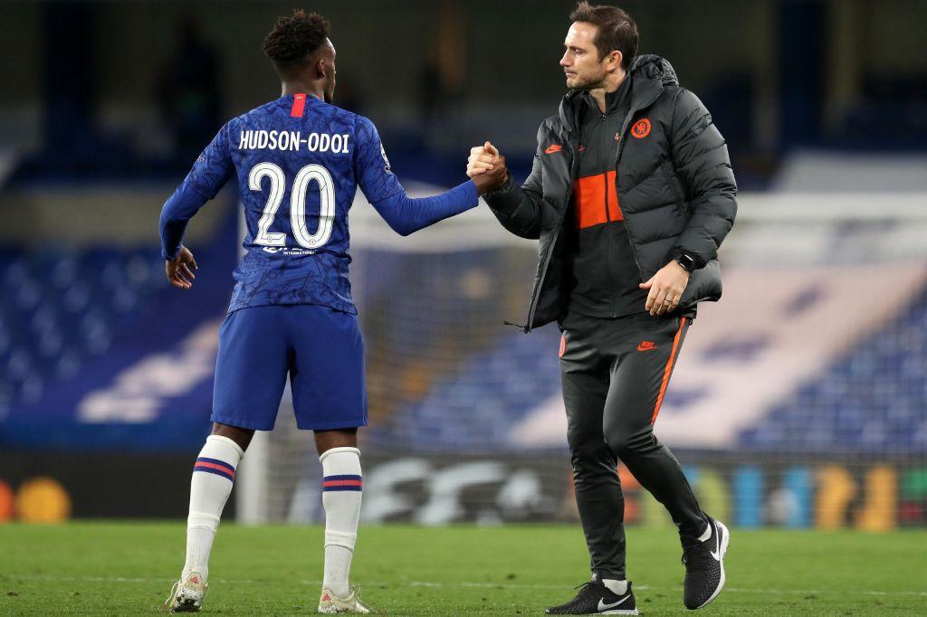 Hudson Odoi e Frank Lampard