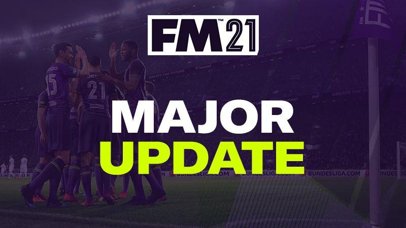 Aggiornamento di Football Manager 2021