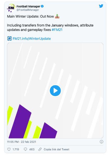 FM Tweet - Aggiornamento mercato invernale