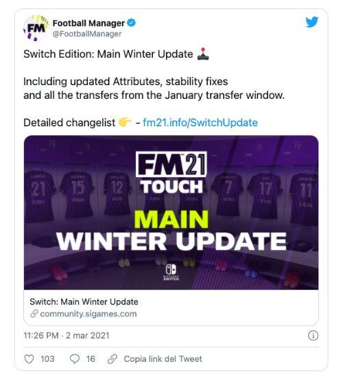 Tweet FM 21 - Update
